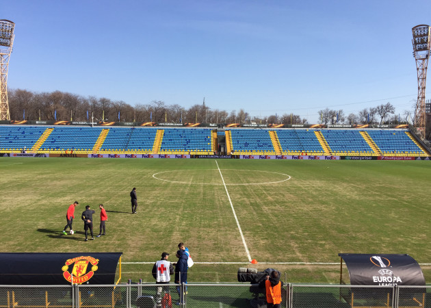Rostov v Manchester United - UEFA Europa League - Last 16 - First Leg - Manchester United Arrival - Olimp-2 Stadium