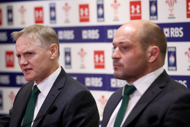 Joe Schmidt and Rory Best