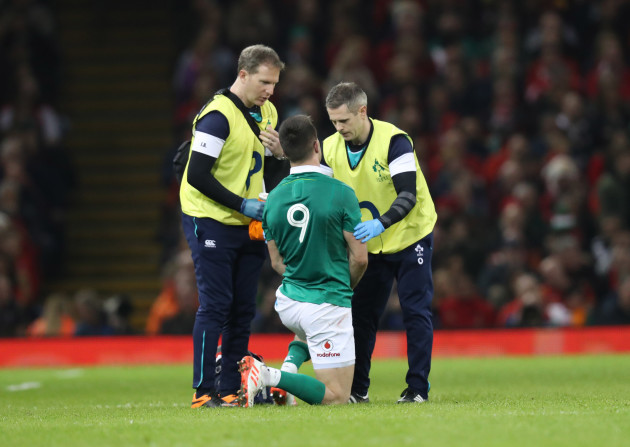 Conor Murray receives treatment