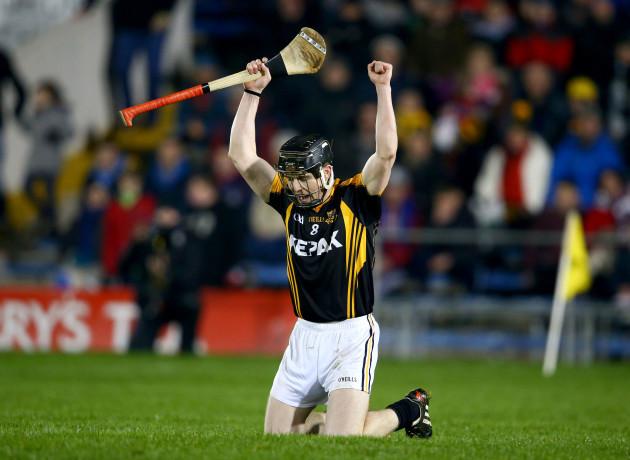 Tony Kelly celebrates at the final whistle