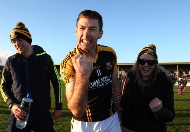 Gary Brennan celebrates