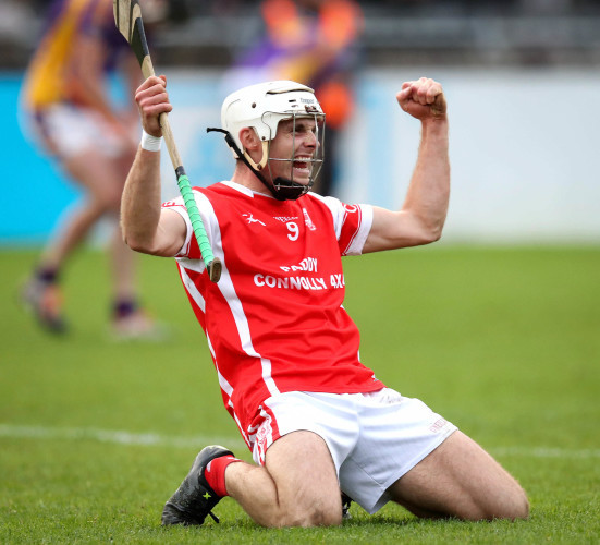 Darragh O'Connell celebrates at the full time whistle