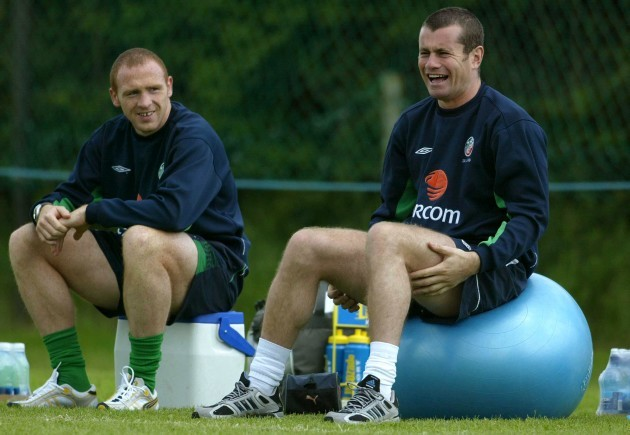 Shay Given and Glen Crowe