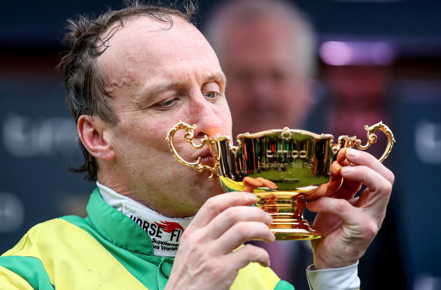 Robbie Power celebrates winning the Gold Cup