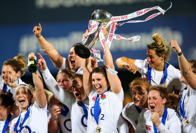 England celebrate winning the grand slam