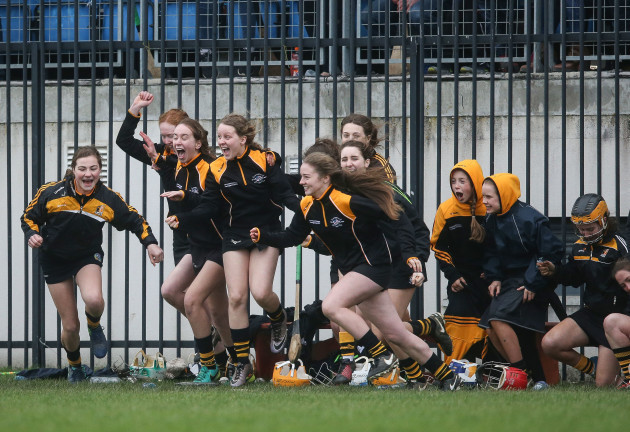 Loreto players celebrate at the final whistle