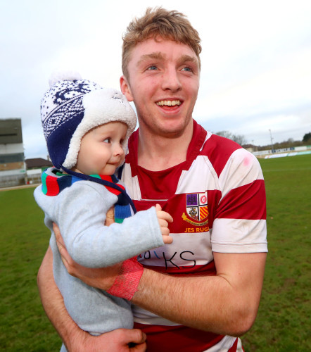 Diarmuid Codyre with his nephew Matthew Codyre after the game