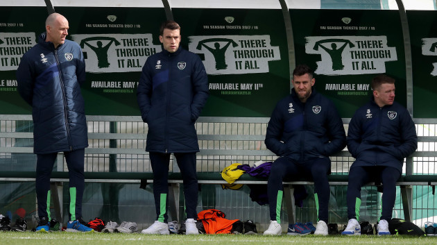 Seamus Coleman, Daryl Murphy and Jonny Hayes