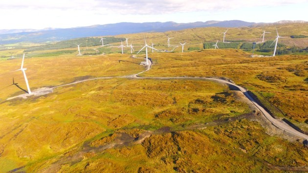 Ireland?s largest windfarm, Energia?s 95MW windfarm at Meenadreen in south Donegal, has officially started supplying power to homes and businesses across Ireland, setting a new Irish record. Photo credit: Thomas McNulty