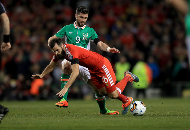 Shane Long with Joe Ledley