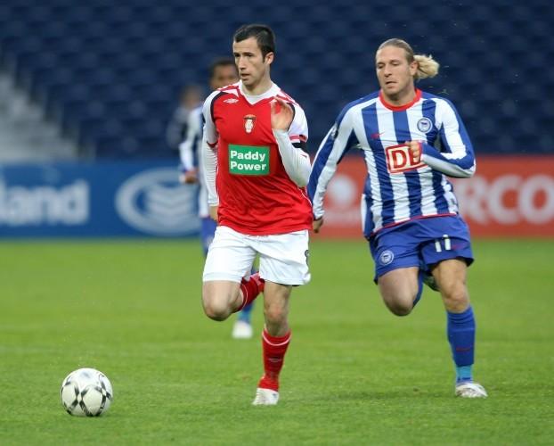 Keith Fahey and Andriy Voronin