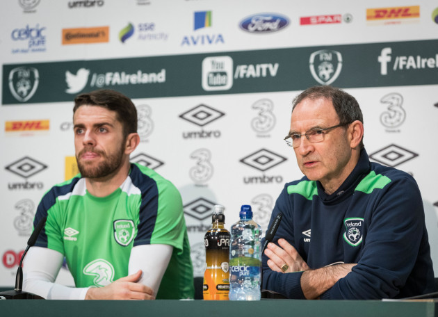 Robbie Brady and Martin O'Neill
