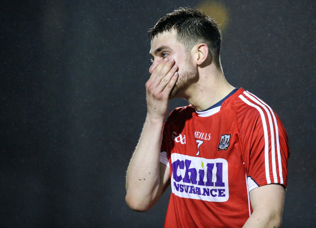Cian Kiely dejected at the end of the game