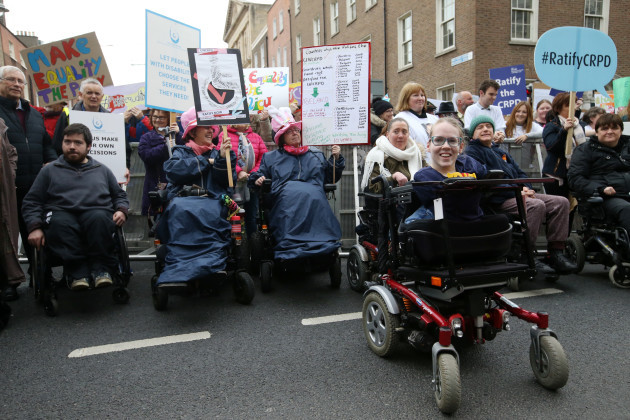 Disability Rights Protest.
