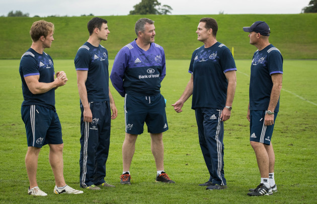 Jerry Flannery, Felix Jones, Anthony Foley, Johan 'Rassie' Erasmus and Jacques Nienaber