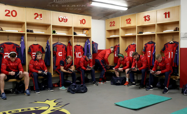 Munster players before the game