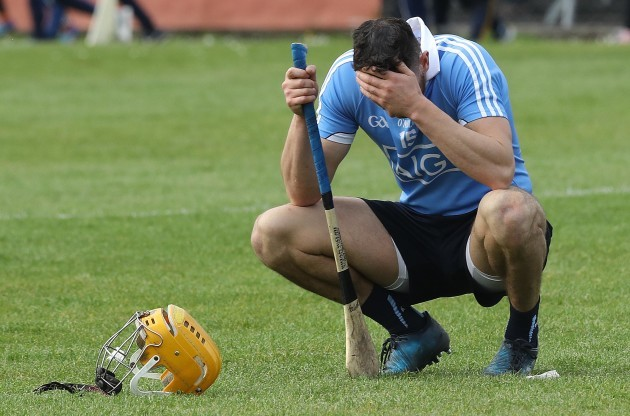 A dejected Eamon Dillon after the game