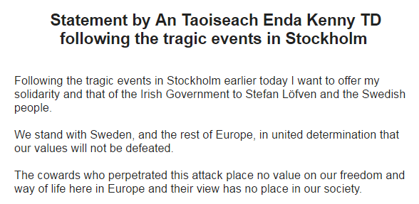Enda Kenny Sweden