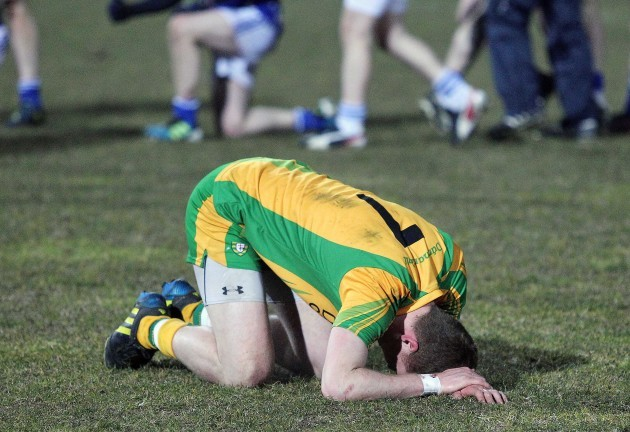 Dejected Luke Keaney after the game