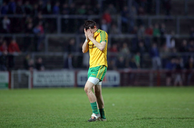 Ryan McHugh dejected at the final whistle
