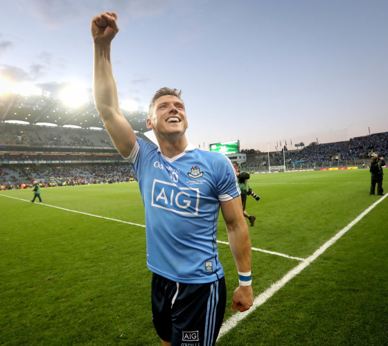 Paul Flynn celebrates after the game