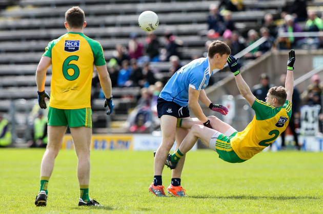 Con O'Callaghan is involved in an off the ball incident for which he received a black card