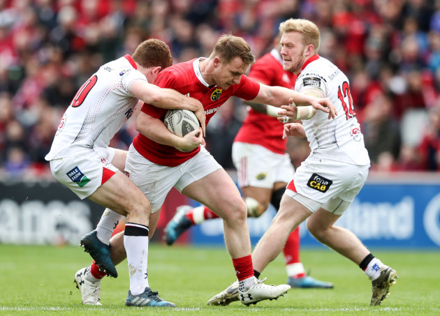 Paddy Jackson and Stuart Olding tackled Rory Scannell