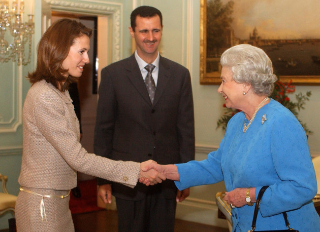 Queen with Bashar Al-Assad