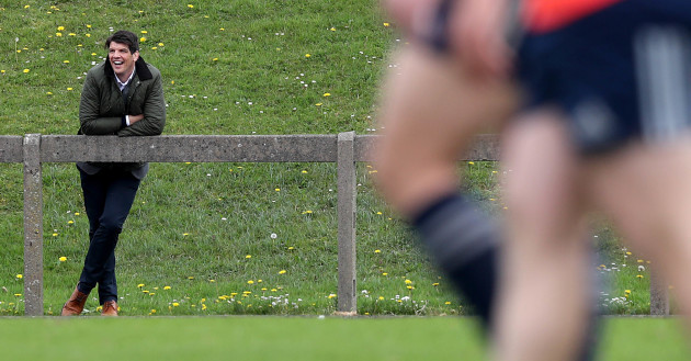 Former Munster player Donncha O'Callaghan watches training