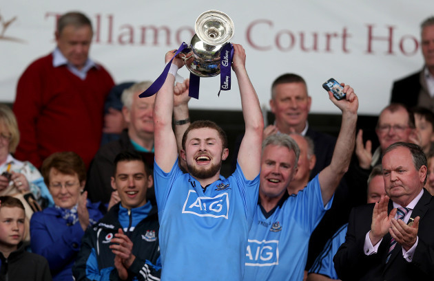 Jack McCaffrey lifts the cup
