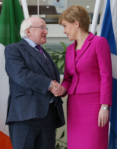 President Higgins visit to Scotland - Day One