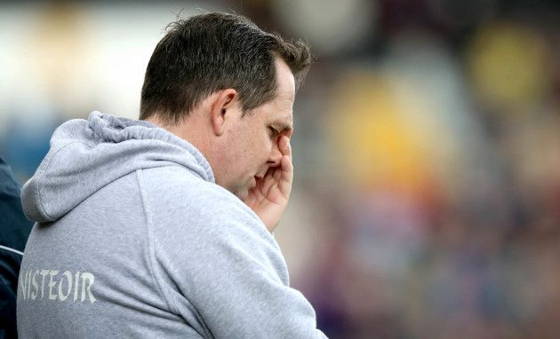 Davy Fitzgerald reacts near the end of the game