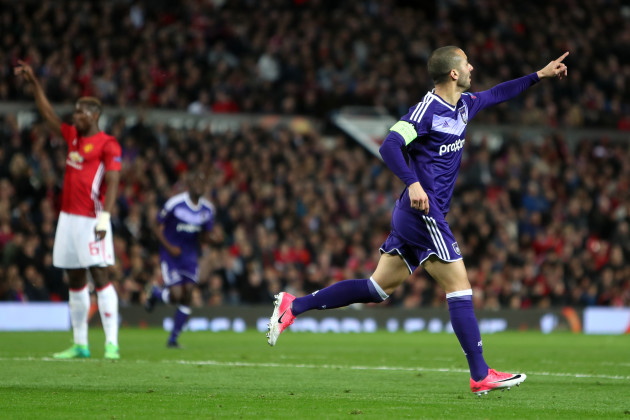 Manchester United v RSC Anderlecht - UEFA Europa League - Quarter Final - Second Leg - Old Trafford