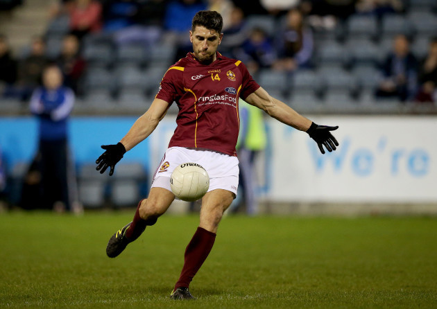 Bernard Brogan kicks a late point