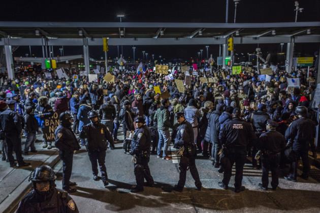 NYC: 1000s Shutdown NYC's JFK Airport, Defy Trump