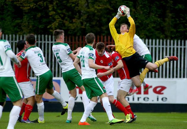 Conor O'Malley claims a high ball