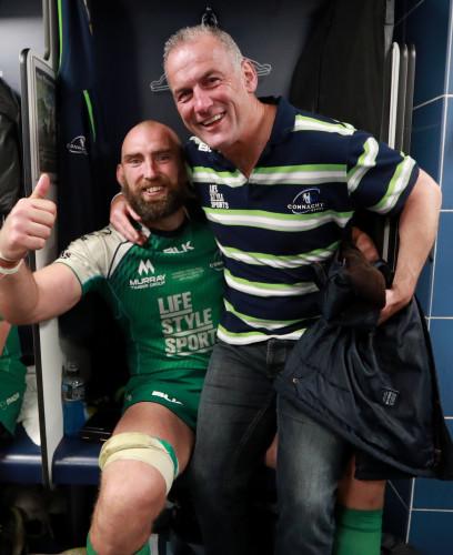 John Muldoon celebrates with Eric Elwood