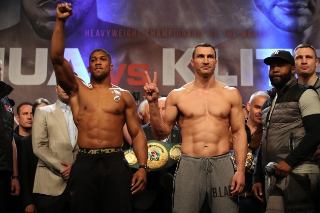 Anthony Joshua v Wladimir Klitschko Weigh In - Wembley Arena
