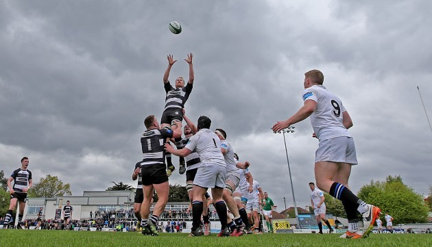 Karl Miller claims the line out