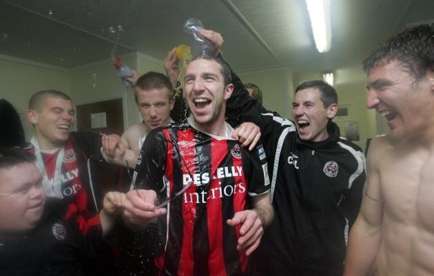 Owen Heary celebrates