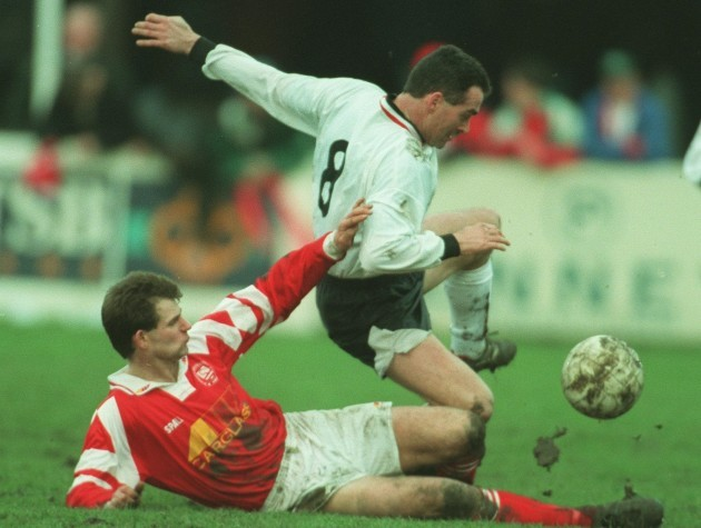 Tom McNulty Noel Meenagh St Patrick's Athletic V Dundalk 12/2/95