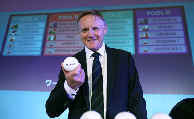 Ireland's 2019 Rugby World Cup Pool Opponents Revealed