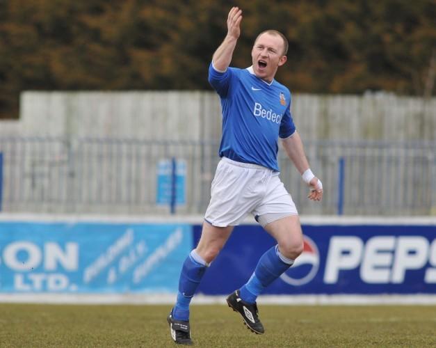 Trevor Molloy celebrates his goal