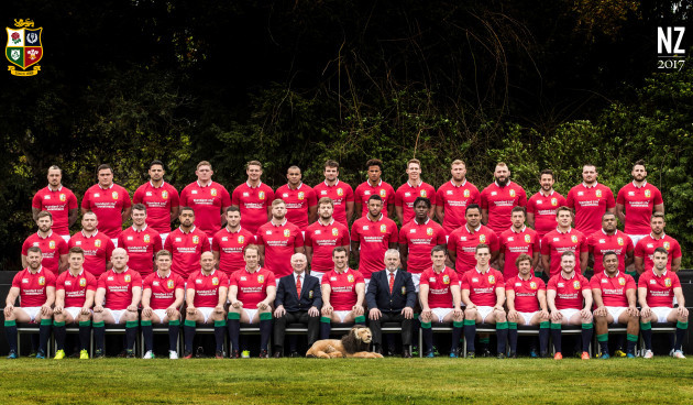 The 2017 British  Irish Lions Tour to New Zealand squad photo