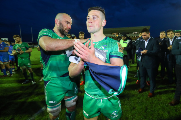 John Muldoon and John Cooney after the game