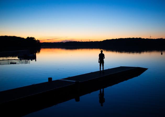 Sundown in Haltern at the Lake