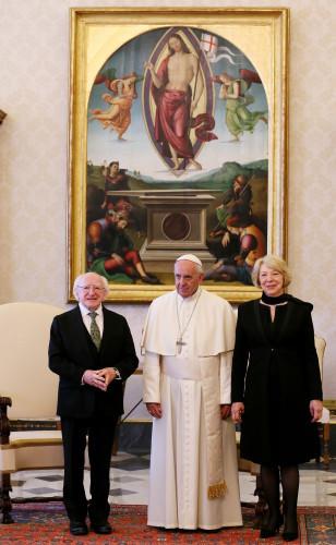 Pope Francis Meets Michael D. Higgins President of Ireland - Vatican