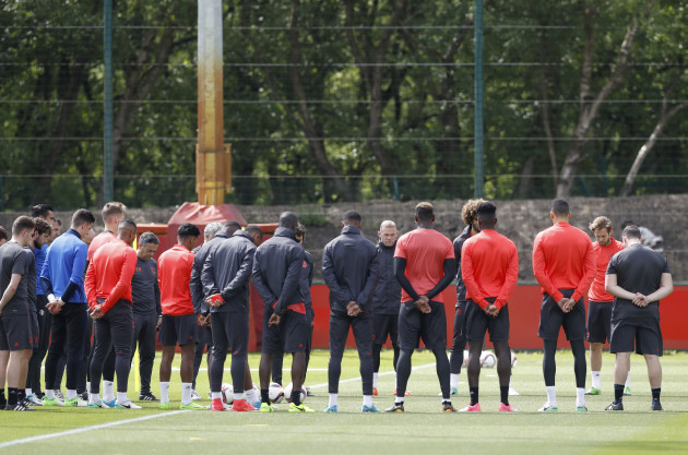 Manchester United Training Session - AON Training Complex