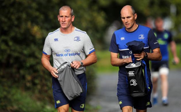 Stuart Lancaster and Girvan Dempsey