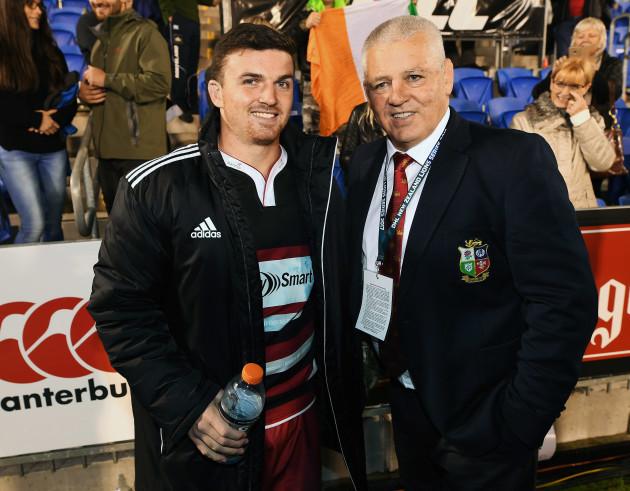 Bryn Gatland with his father Warren Gatland